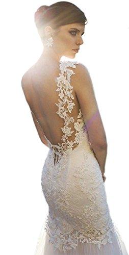 Ikerenwedding - Robe - Moulante - Femme Blanc