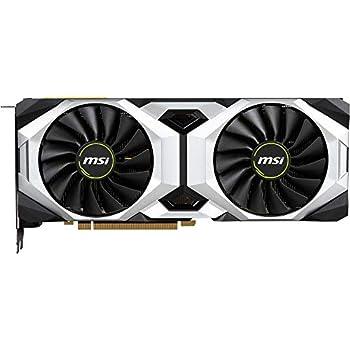 MSI GeForce RTX 2080 Ti VENTUS 11G OC - Tarjeta gráfica Enthusiast (PCI-E 3.0, Nvidia G-Sync, 11 GB GDDR6, 352-bit, 7000 Mhz Memory Clock Speed, MSI ...
