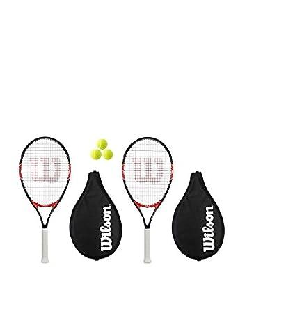 Wilson Federer 26 Lot de 2 raquettes de Tennis et 3 balles RRP £ 75
