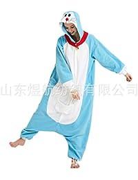 SALICEHB Jingle Cat Fleece Cartoon Einteiliger Pyjama Doraemon Tierkostüm