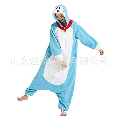 SALICEHB Jingle Cat Fleece Cartoon Pijama De Una Pieza Doraemon Disfraz De Animal