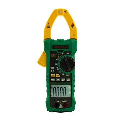 Mastech MS2115A Digtal DC/AC Clamp Meter Messzange Spannung Strom Widerstand Kapazität Tester True RMS