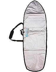 Housse 6'4 de transport Surf DayBag Fish Cover Logo - Silver