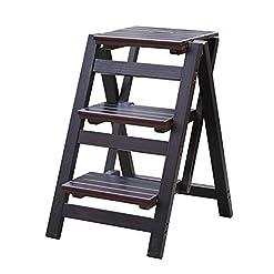 GAOJIAN Scaletta pieghevole in legno massello Scala a tre gradini Scala in legno massello scala personaggio umano scala fiore scaletta multifunzionale