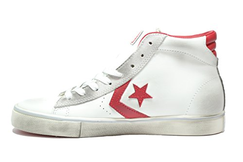 Converse ,  Unisex-Erwachsene desert boots bianco rosso vintage, white tango red