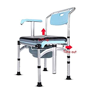 Aluminiumlegierung verstärkter Rutschfester Toilettensitz – älterer schwangerer Frauenheim mobiler Toilettenhocker – höhenverstellbar