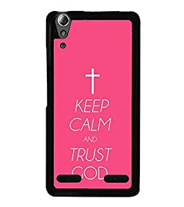 Vizagbeats keep calm trust god Back Case Cover for LENOVO A6000