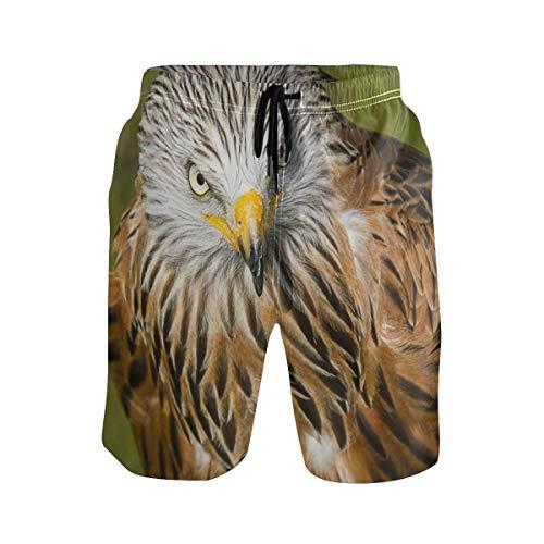 akingstore Herren Badehose Falcon Bird Eagle Quick Dry Beach Shorts mit Taschen Kordelzug Boy Men