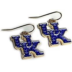 NCAA Kentucky Wildcats Women's Rhinestone UK French Wire Earrings, One Size, Gold