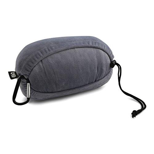 Reisekissen von evo-cative – Memory-Schaum – Outdoor Camping Kissen – Reiseausrüstung ideal für Backpacker, Camper und Globetrotter – 40x25x10cm