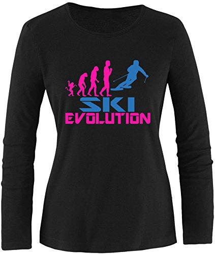 EZYshirt® Ski Evolution Damen Longsleeve (Damen 1960 S Jacke)
