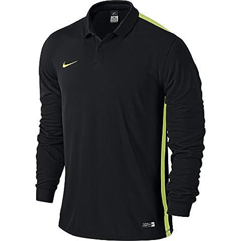 Nike Challenge Jersey a maniche lunghe da donna, Multicolore (Nero/Volt), M