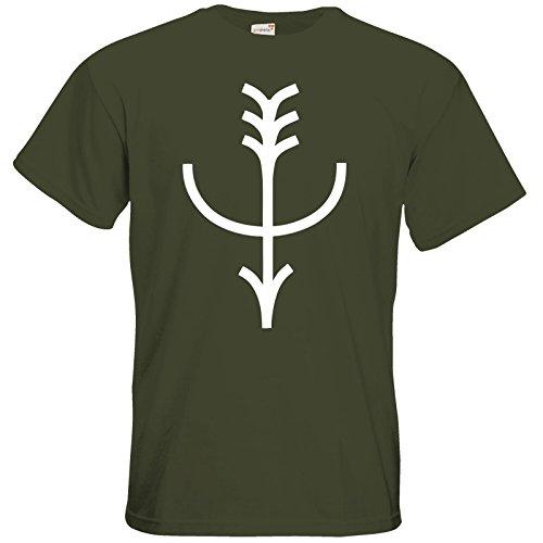 getshirts - Das Schwarze Auge - T-Shirt - Götter - Symbole - Firun Khaki