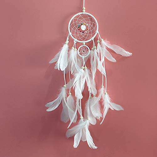 Dream catcher - sansheng sansheng feather ornaments handmade bells white