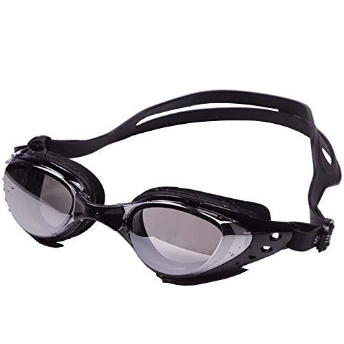 OGOBVCK mit schutzbrillen galvanisch beschichtet Schwimmen Spiegel Film mit ameise Nebel, Wasser und uv Schutz Fahren Brillen speziell für Erwachsene und Kinder 10+ (Black)