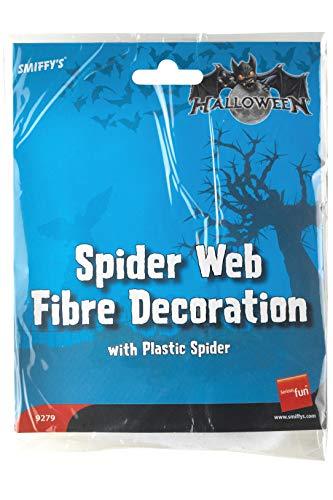 Smiffys Spinnweben Dekoration, Weiß, 9279