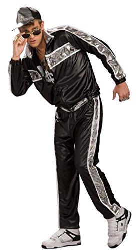 80er Jahre Hip Hop Trainingsanzug Kostüm, Größe:M/L