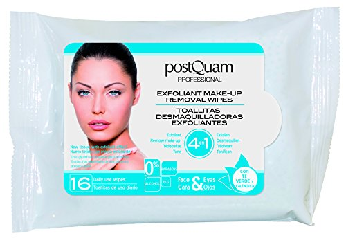 Make-up Removal Wipes (Postquam 4 In 1 Exfoliant Make-Up Removal Wipes Abschminktücher 16 Stück)