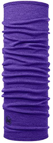 Buff Midweight Merino Wool Multifunktionstuch Purple Melange One Size