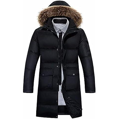 Uomini extra lungo extra lungo con cappuccio imbottita down coat