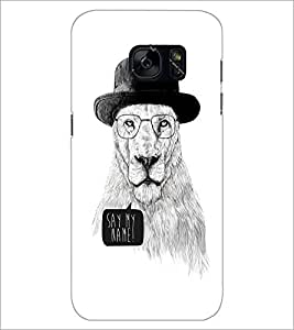 PrintDhaba Lion Sketch D-1060 Back Case Cover for SAMSUNG GALAXY S7 (Multi-Coloured)