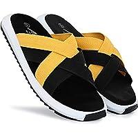 Super Stylo Men's Black Synthetic Latest slippers for men