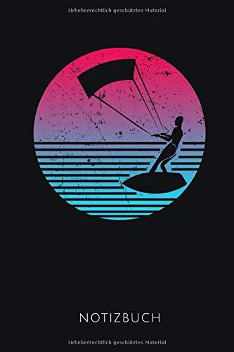 NOTIZBUCH: Notizbuch für Kitesurfer | 110 Seiten, liniert | Format DIN A5, 6x9 Zoll | Schöne Geschenkidee für Wassersportler