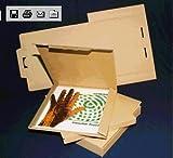 50 LP Versandkartons fuer 1-3 LPs Vinyl Versandkarton Postkartons (L/B/H) 322 x 322 x 10 mm