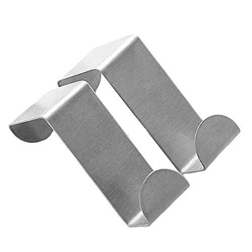 Preisvergleich Produktbild Peepheaven Edelstahl Türhaken Hängen Küchenschrank Kleiderbügel Auf Tür Zurück Typ Starke Praktische Wohnaccessoires-Silber