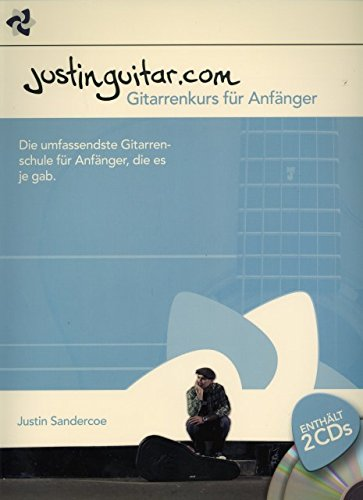 Justinguitar.com - Gitarrenkurs fuer Anfaenger - arrangiert für Gitarre - Akkorde - mit 2 CD´s [Noten / Sheetmusic] Komponist: Sandercoe Justin