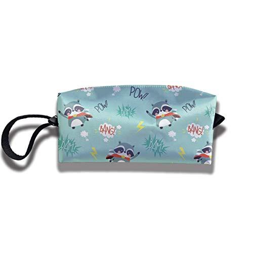 TRFashion Toiletry Bag Super Racoon Bang! Pow!Storage Bag Beauty Case Wallet Cosmetic Bags Aufbewahrungstasche Kosmetiktasche
