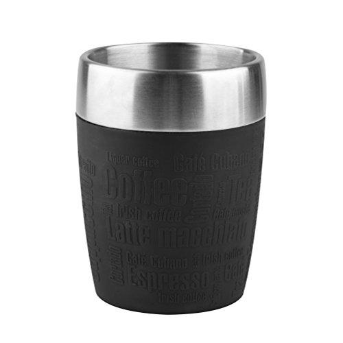 Preisvergleich Produktbild Emsa 514514 Isolier-Trinkbecher, Mobil genießen, 200 ml, Dreh- Trinkverschluss, Schwarz, Travel Cup