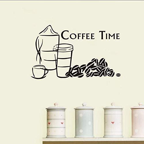 Lvabc Küche Wandaufkleber Kaffee Backen Room Decor Abnehmbare Vinyl Wandkunst Bäckerei Cafe Shop Abziehbilder Dekorative Farbe Optional 73X43 Cm