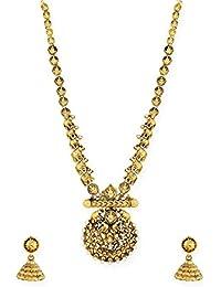 Zaveri Pearls Ethnic Jewellery Set For Women (Gold)(ZPFK6768)