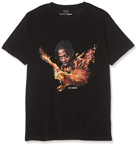 Mister Tee Herren Sickomode Eagle T-Shirt, Black, XL - Eagle Print Tee