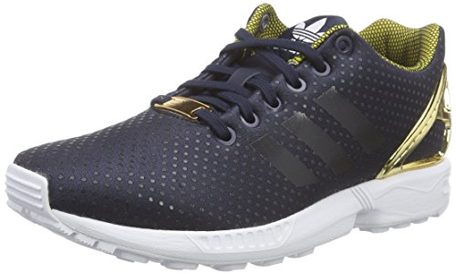 adidas Originals Damen Zx Flux Laufschuhe Schwarz (Legend Ink S10/Legend Ink S10/Gold Met.)