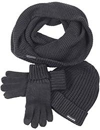 Urban Classics Herren Mütze, Schal & Handschuh-Set Winter