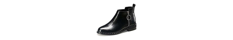 Botas de Mujer Botas de Tacón bajo de Primavera y Otoño de Invierno Botas de Estudiante Martin Boots Zapatos de... -