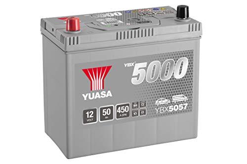 Yuasa YBX5057,Batteria per auto, Ad alta performance, Colore: argento