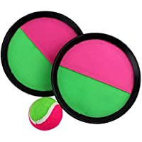 Paddle Toss and Catch Ball Set Self Stick Paddle Game Toss Ball Sports Game for Kids Outdoor Interaction Game 3pcs/set