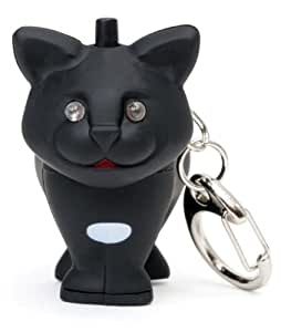 Kikkerland Krl03tc Cochon LED Keychain avec son, noir