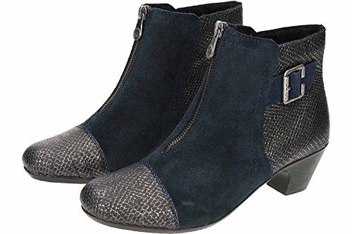 Rieker 70581-90 Bottes Bleu Foncé Noir