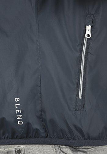 BLEND Zubaru Herren Windbreaker Funktionsjacke aus hochwertiger Materialqualität India Ink (70151)