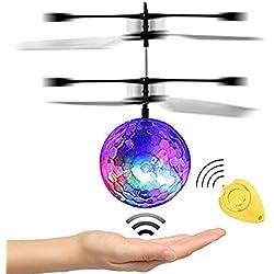 JAMSWALL Bola voladora RC, Bola RC con Led Llamativo Juguete RC Juguete RC Flying Ball para niños Adolescentes (con Control Remoto)