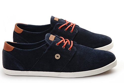 Faguo Cypress, Baskets mode mixte adulte Bleu (Marine/Chili/Suede)
