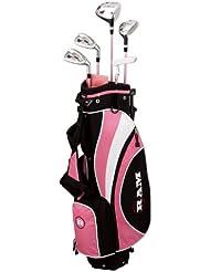 Ram FX Max Set de clubs de golf Fille (9-12 ans) Fibre de carbone Tige régulière Rose Pour droitier