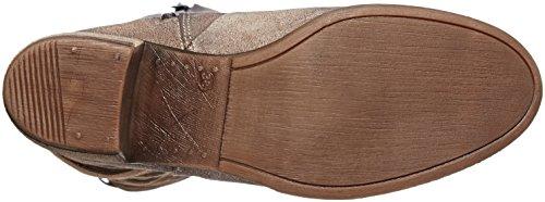 BUNKER Damen Booty Langschaft Stiefel Grau (Taupe)