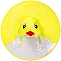 Uarashi Creative UFO Headwear impermeable impermeable sin manos Portable Duck impermeable paraguas, cubierta impermeable Cute Baby Hat gorra, ligero y plegable y sin hueso, Kindergarten creativo