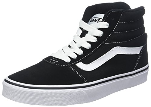 Vans Ward Hi Suede/Canvas, Sneaker a Collo Alto Uomo, Nero ((Suede/Canvas) Black/White C4R) 42.5 EU