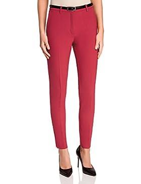 oodji Ultra Mujer Pantalones Ajustados con Cinturón en Contraste